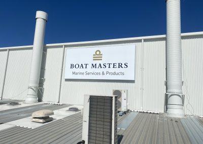 marine services banner installation