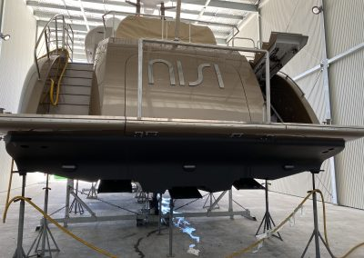rear view of boat